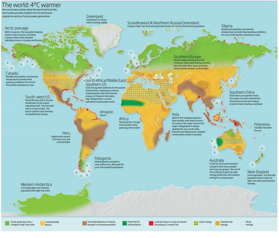 4 degree map